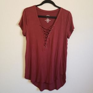 Maurices Tie Front Detail T Shirt